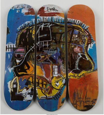 Jean-Michel Basquiat, 'Triptych Skull', 2014