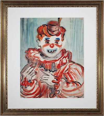 Sylvia Spicuzza, 'Clown Close Up', c.1940's -1950's