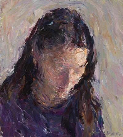 Daniel Enkaoua, 'Aure en violet lisant', 2021