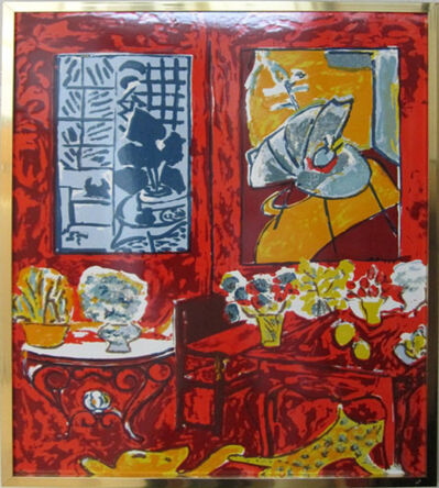 Henri Matisse, 'Red Interior with Flowers - After Henri Matisse', 1948
