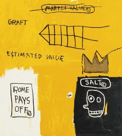 Jean-Michel Basquiat, 'Rome pays off', 1982