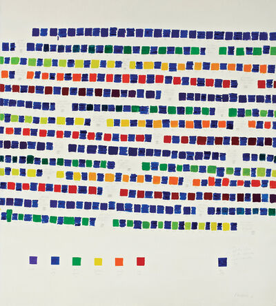 Osvaldo Romberg, '1-388 All the Colors of the Chromatic Circle Interacted by Blue Ultramarine', 1980
