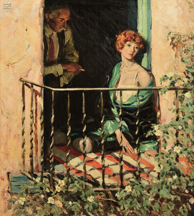 Harold Von Schmidt, 'Woman seated on Balcony', 1928