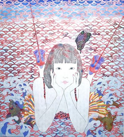 KAORUKO, 'Carp Climbing Up a Waterfall', 2019