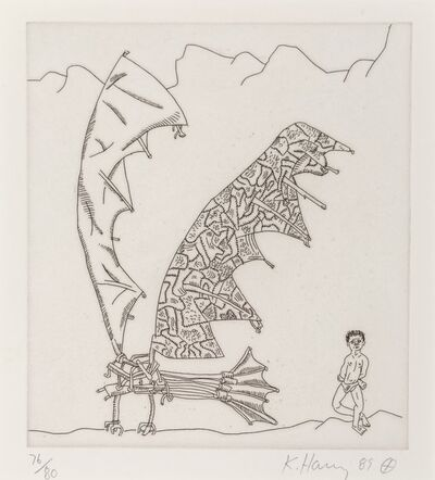 Keith Haring, 'Untitled, from The Valley Series', 1989