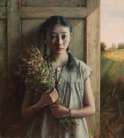 Zhao Kailin, 'Girl with Bouquet', 2002