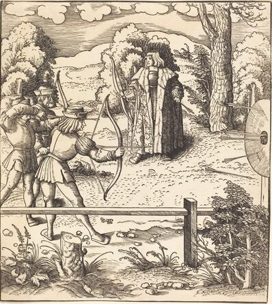 Leonhard Beck, 'The Young White King at the Butts', 1514/1516