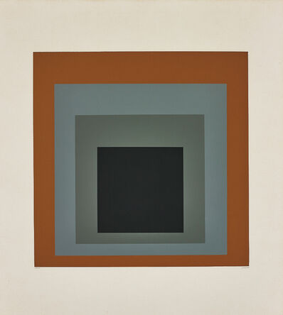 Josef Albers, 'Hommage au Carré: one plate', 1965