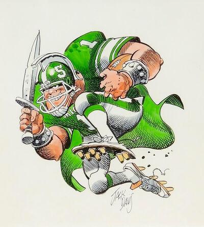 Jack Davis, 'Michigan State Spartans Football Illustration'