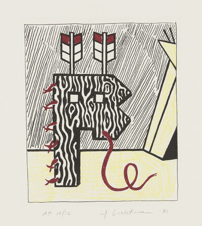 Roy Lichtenstein, 'Figure with Teepee, from American Indian Theme', 1980