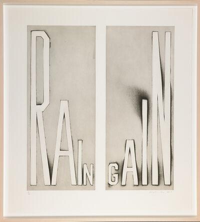 Ed Ruscha, 'Rain Gain', 2014