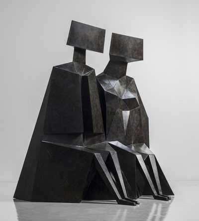 Lynn Chadwick, 'Sitting Couple', 1989