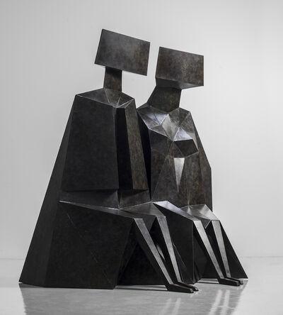 Lynn Chadwick, 'Sitting Couple', 1989