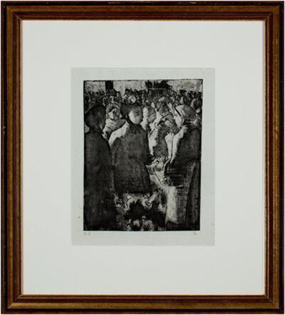 Camille Pissarro, 'Marche a La Volaille, a Gisors', 1891