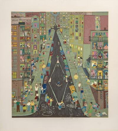 Ralph Fasanella, 'Stickball', 1975