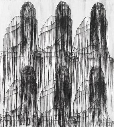 Ghada Amer, 'GIRL WITH GARDEN CARNATION', 2017