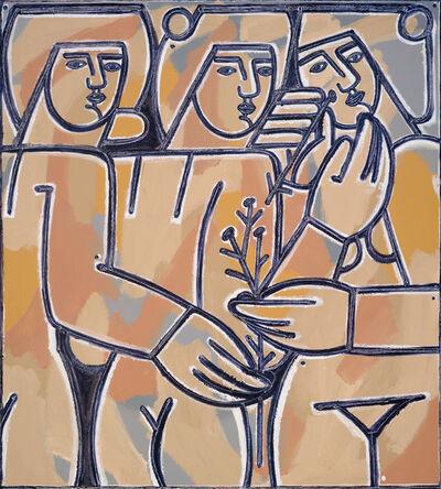 America Martin, 'Three Women and Sprigs of Chamomile', 2020