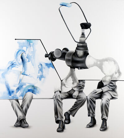 Aras Seddigh, 'Men in Blue Suits', 2014