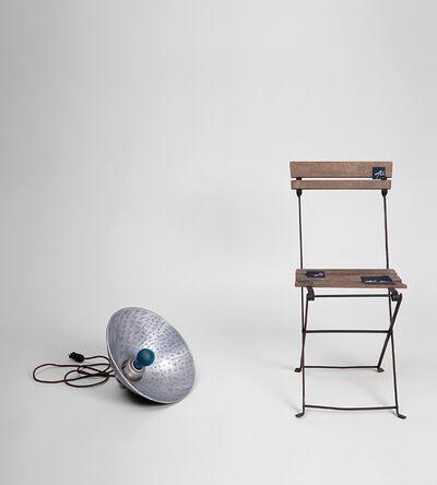 Marcel Broodthaers, 'Lampe Bleu et Chaise', ca. 1969