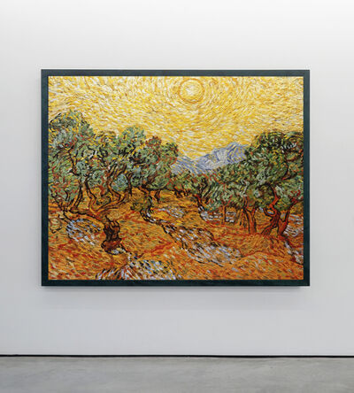 Vik Muniz, 'Olive Trees with Yellow Sky and Sun, after Van Gogh', 2007