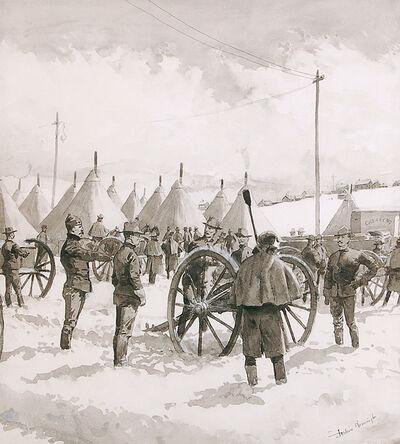 Frederic Remington, 'Denver Railroad Strike, Chicago', 1890