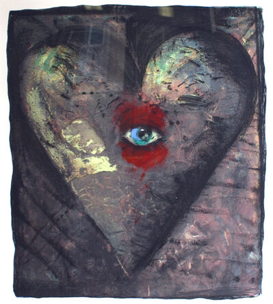 Jim Dine, 'Hand-Colored Viennese Heart V', 1990