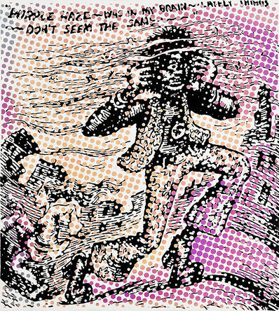 Dino Bruzzone, 'Purple Hace was in my Brain', 2019
