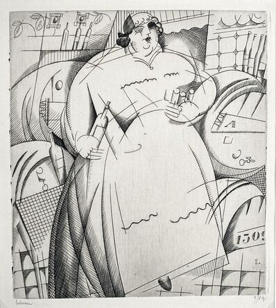 Jean-Emile Laboureur, ' La Cabaretiere Obese', 1917