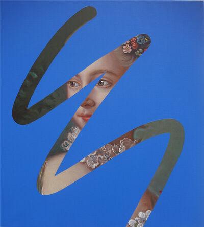 Lino Lago, 'Fake abstract Blue on F. Boucher III', 2019