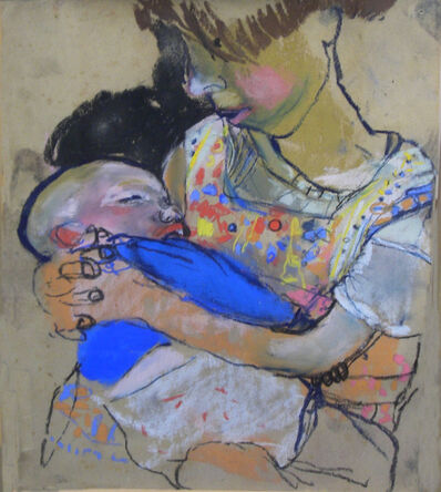 Joan Eardley, 'Girl with Baby'