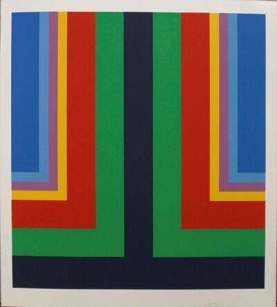 Howard Mehring, 'Untitled silkscreen c. 1964 (in dark blue, green, red, yellow, pale blue, and blue)', ca. 1964