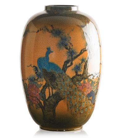 Edward T. Hurley, 'Massive Jewel Porcelain vase with peacocks, Cincinnati, OH', 1925