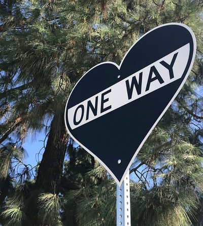 """Scott Froschauer, '""""One Way - Heart""""  - Contemporary Street Sign Sculpture', 2017"""