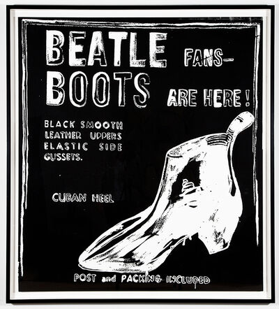 Andy Warhol, 'Beatle Boots (Negative)', 1986