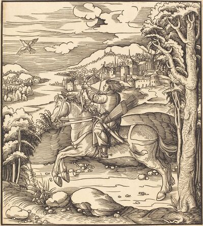 Leonhard Beck, 'The Prince at the Bird-Catching', 1514/1516