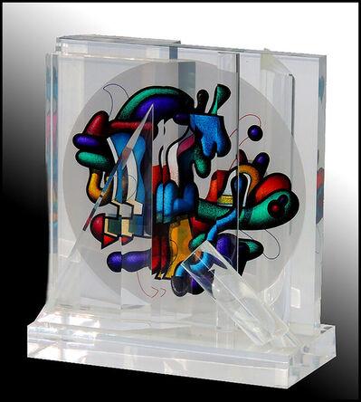 Yankel Ginzburg, 'Yankel Ginzburg Authentic Original Sphere Acrylic Sculpture Signed Rare Artwork', 20th Century