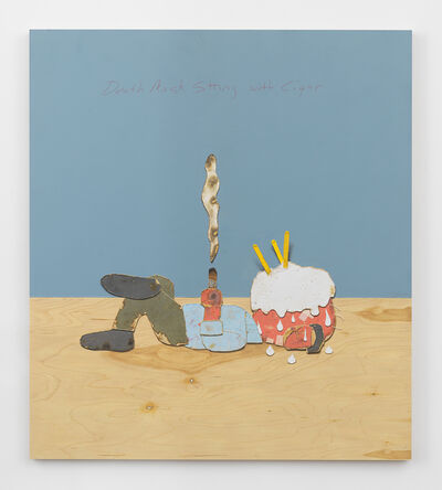 Kirk Hayes, 'Death Mask Sitting with Cigar', 2016