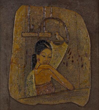 Cheong Soo Pieng, 'Thinking (Malay Girl) ', 1972