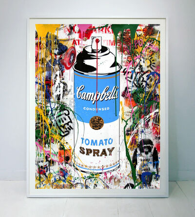 Mr. Brainwash, 'Tomato Spray (blue)', 2017
