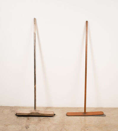 Joseph Beuys, 'Silver Broom and Broom without Bristles', 1972