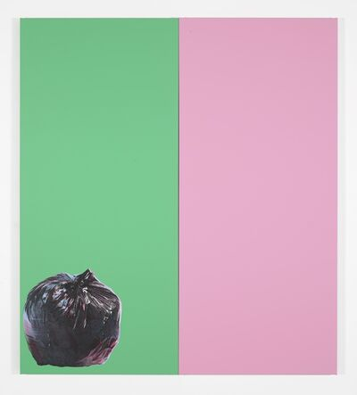 Gavin Turk, 'Green and Pink with Rubbish Bag', 2019
