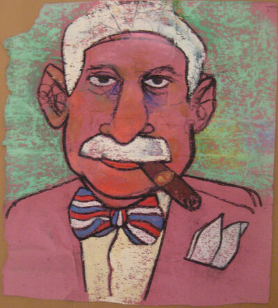 Richard Merkin, 'Untitled (Self-Portrait in Pink)', ca. 1980