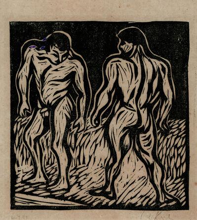Ernst Ludwig Kirchner, 'Zwei Ringer (Two Wrestlers)', 1906