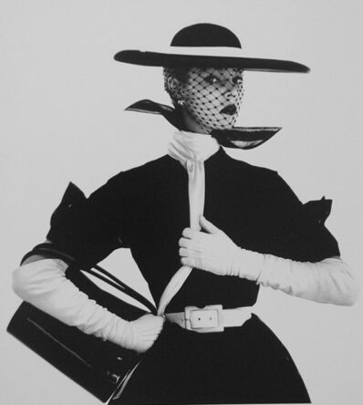 Irving Penn, 'B&W Fashion with Handbag B, Jean Patchett', 1950