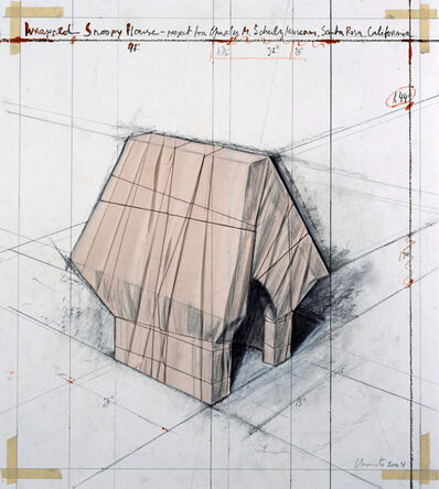 Christo, 'Wrapped Snoopy House', 2004