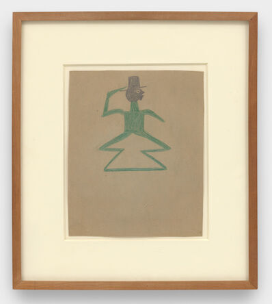 Bill Traylor, 'Green Man with Double Triangle Legs', 1939-1942