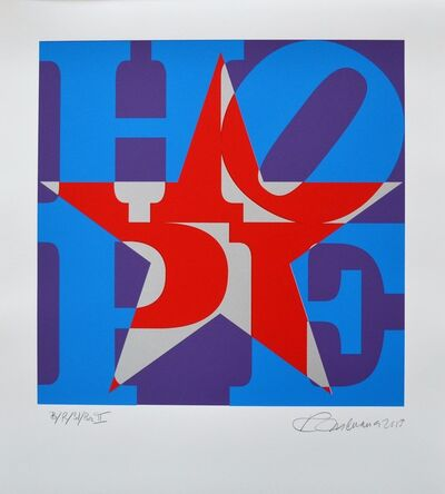 Robert Indiana, 'Star of Hope Unique (Blue/Red/Silver/Purple II)', 2013