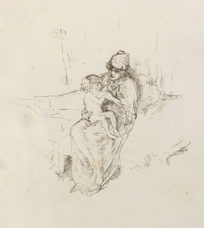 James Abbott McNeill Whistler, 'Mother and Child No.1', 1891 and 1895