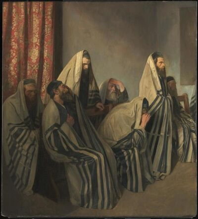 William Rothenstein, 'Jews Mourning in a Synagogue', 1906