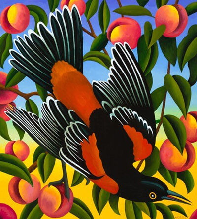 Billy Hassell, 'Orchard Oriole with Peaches', 2017